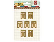 CRT-4295 CARTE POSTALE - METAL TABS Basic Grey