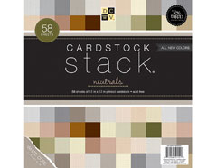 CS-004-00001 Set 58 cartulinas Textured Cardstock Stack Neutrals DCWV