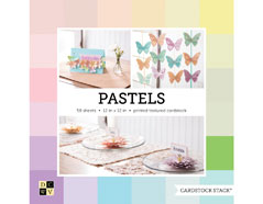 CS-014-00001 Set 58 cartulinas Textured Cardstock Stack Pastels DCWV