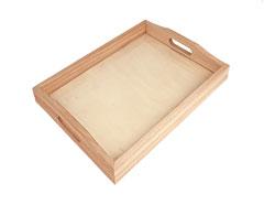 D261 Bandeja madera de balsa con vidrio Innspiro