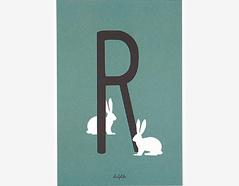 DAC24 Tarjeta postal alphabet R Dailylike