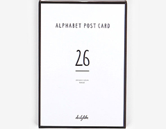 DAC35 Set 26 tarjetas postales alphabet Dailylike