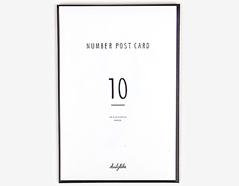 DAC48 Set 10 tarjetas postales numbers Dailylike