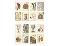 DASS12 Sellos papel adhesivos antique disenos surtidos Dailylike