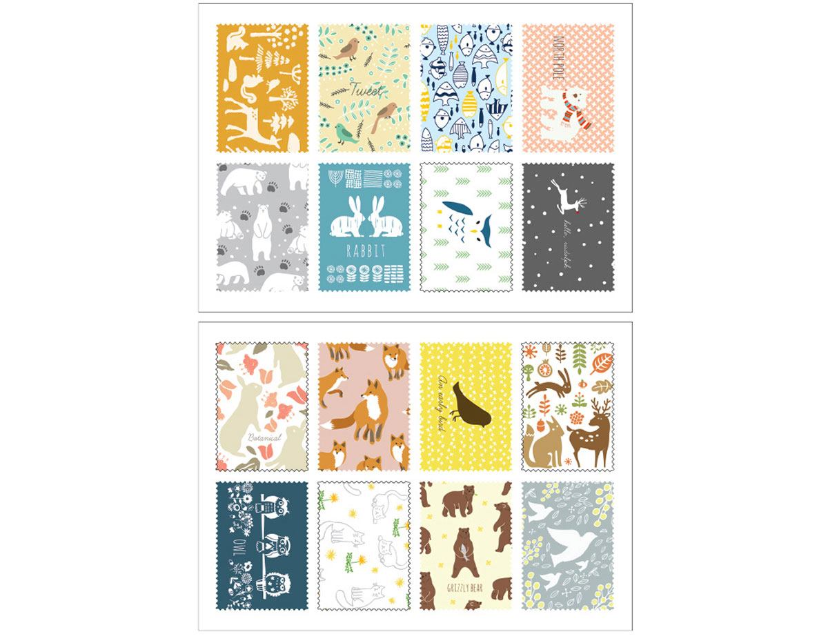 DASS19 Sellos papel adhesivos animal pattern disenos surtidos Dailylike