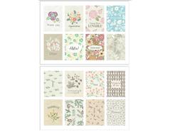 DASS20 Sellos papel adhesivos flower pattern disenos surtidos Dailylike