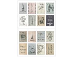 DASS22 Sellos papel adhesivos travel disenos surtidos Dailylike