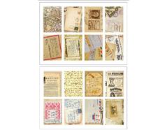 DASS23 Sellos papel adhesivos vintage letter disenos surtidos Dailylike