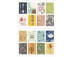 DASS24 Sellos papel adhesivos kitchen cooking disenos surtidos Dailylike