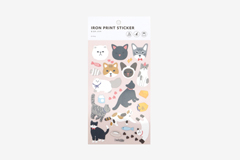 DBE01 Pegatinas termoadhesivas para ropa kitty Dailylike