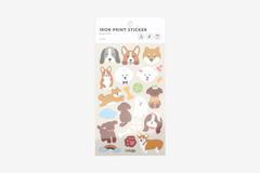 DBE02 Pegatinas termoadhesivas para ropa puppy Dailylike