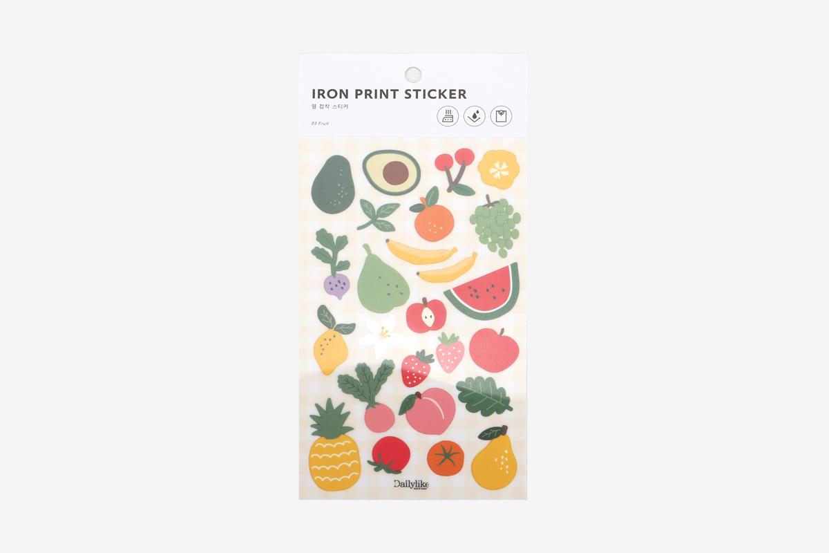 DBE03 Pegatinas termoadhesivas para ropa fruit Dailylike