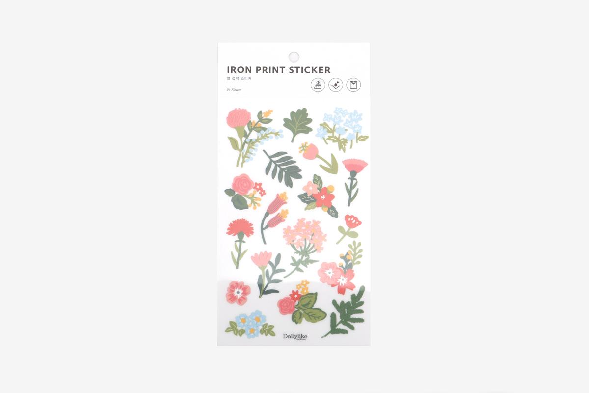 DBE04 Pegatinas termoadhesivas para ropa flower Dailylike