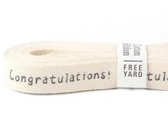 DCR09 Cinta algodon congratulations! Dailylike