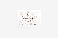 DFC14 Tarjeta felicitacion rosa little bride love you Dailylike