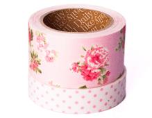 DFT2S02 Set 2 cintas adhesivas textil algodon floral medidas y disenos surtidos Dailylike