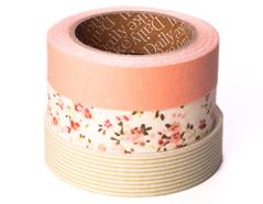 DFT3S03 Set 3 cintas adhesivas algodon cozy Dailylike