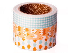 DFT3S07 Set 3 cintas adhesivas algodon homey Dailylike