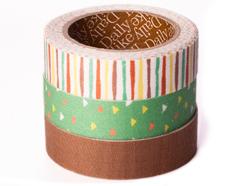 DFT3S10 Set 3 cintas adhesivas algodon childhood Dailylike