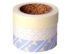DFT3S11 Set 3 cintas adhesivas algodon flag Dailylike