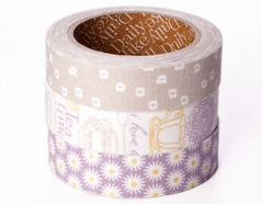 DFT3S33 Set 3 cintas adhesivas algodon tea time Dailylike