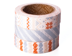 DFT3S35 Set 3 cintas adhesivas algodon knit Dailylike