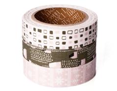 DFT3S36 Set 3 cintas adhesivas algodon snow village Dailylike