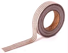 DFTS04 Cinta adhesiva algodon stripe 4 brown Dailylike