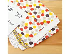 DGB07 Set 6 sobres estampados surtidos con etiquetas Vol 2 blossom Dailylike
