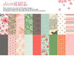 DHT-5060 Set 36 papeles surtidos DEAR HEART Basic Grey