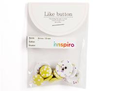 DLB04 Set 10 botones algodon bouquet Dailylike