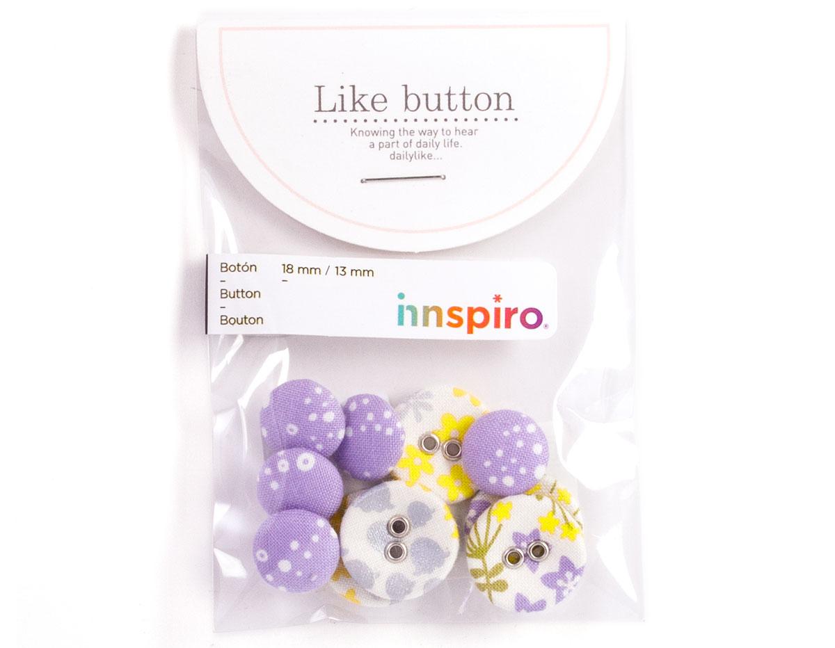 DLB41 Set 10 botones algodon wildflower Dailylike