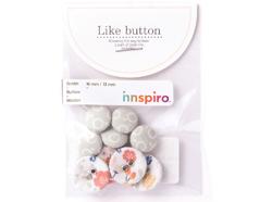 DLB44 Set 10 botones algodon wedding Dailylike