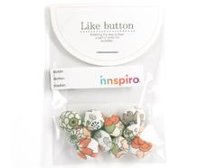 DLB48 Set 10 botones algodon garden surtidos Dailylike - Ítem