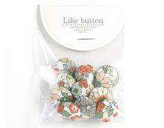 DLB49 Set 10 botones algodon garden surtidos Dailylike