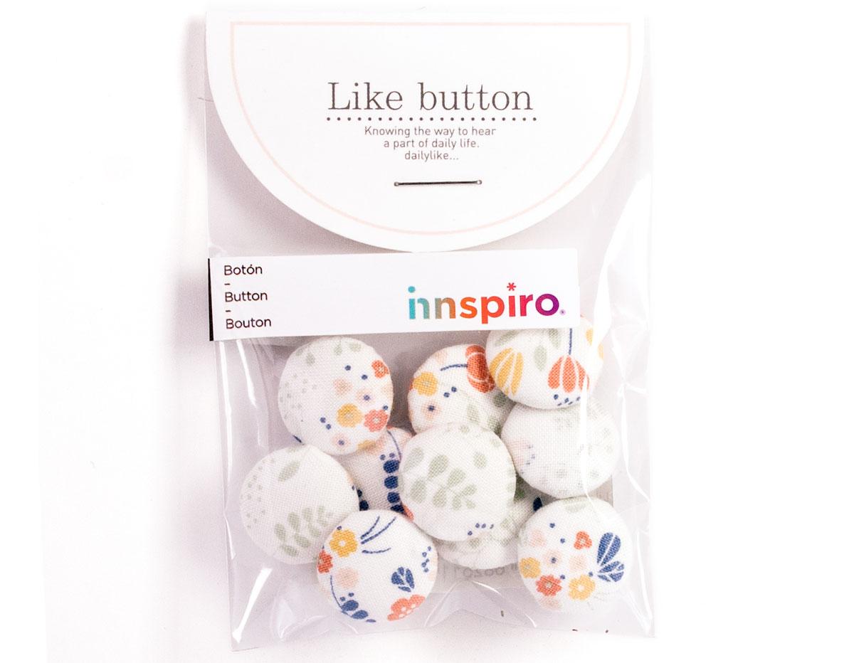 DLB52 Set 10 botones algodon bouquet surtidos Dailylike