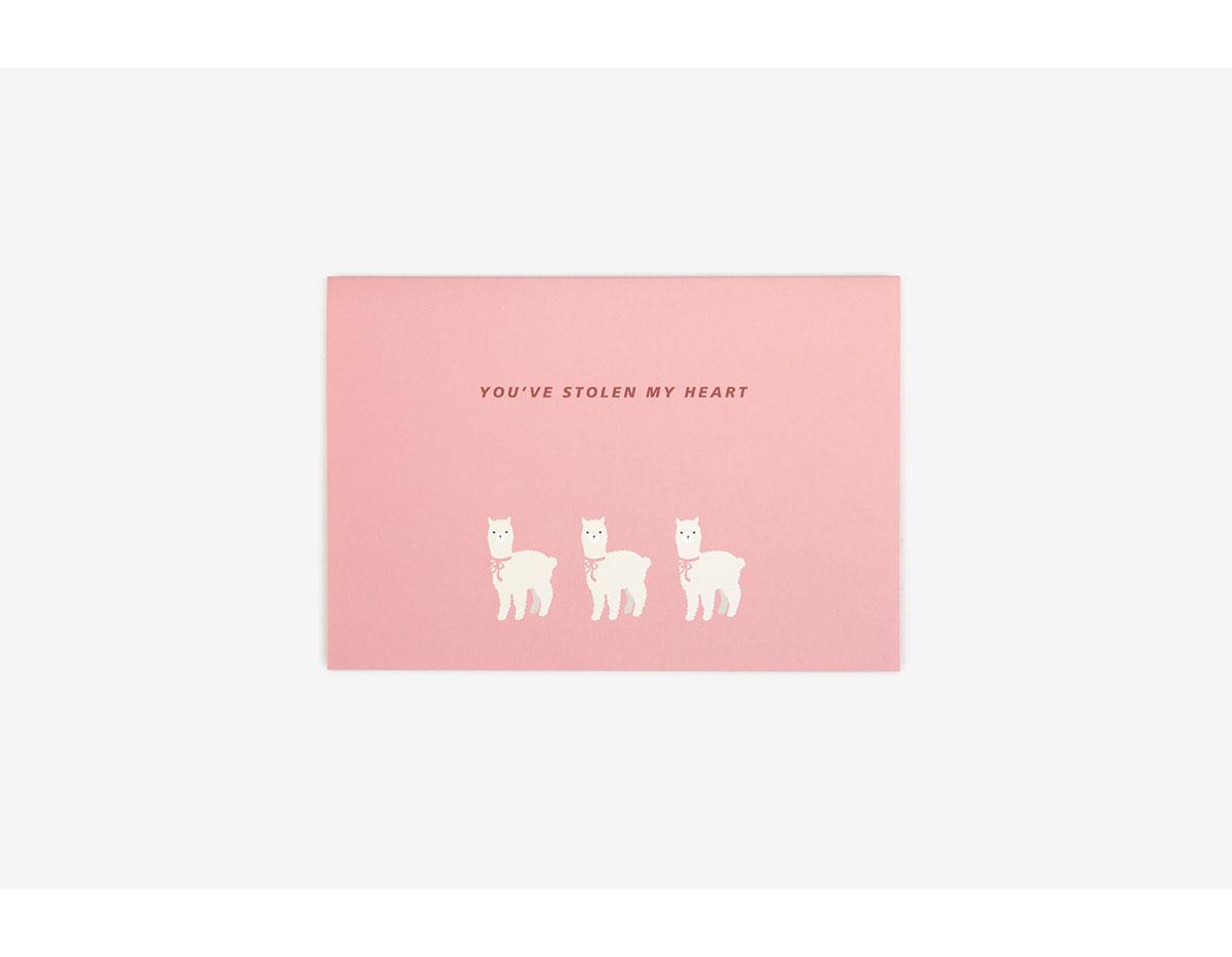 DLC01 Tarjeta album alpaca Dailylike