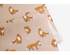DLFO46-10 DLFO46-10-3 Tela algodon laminada brillante winter fox Dailylike