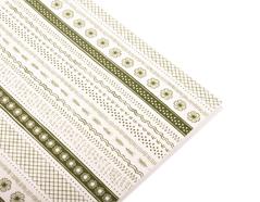 DLFS04 Hoja adhesiva algodon green Dailylike