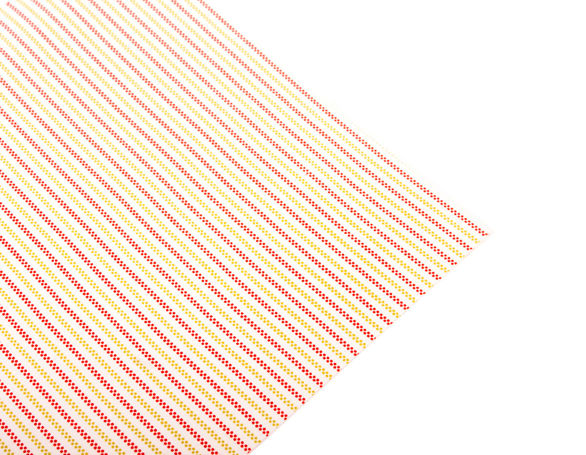 DLFS09 Hoja adhesiva algodon berry stripe Dailylike