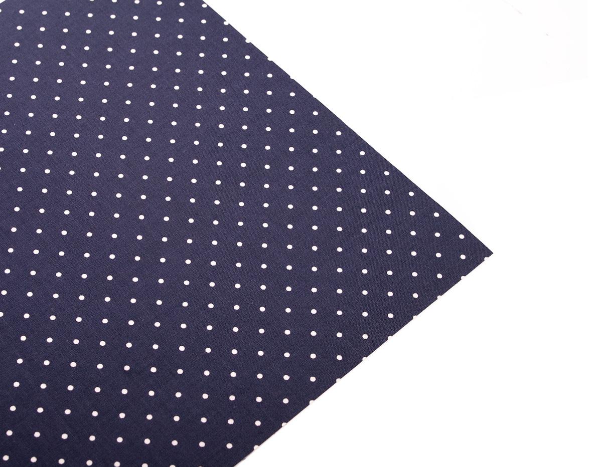 DLFS34 Hoja adhesiva algodon dot azul Dailylike