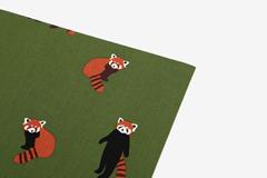 DLFS82 Hoja adhesiva algodon lesser panda Dailylike