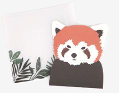DLGAC01 Tarjeta forma animal lesser panda Dailylike - Ítem
