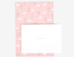DLGAC08 Hojas de papel estampado para carta swan lake Dailylike