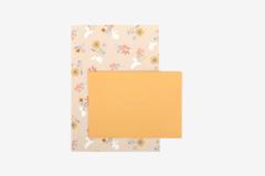 DLGAC11 Hojas de papel estampado para carta pink rabbit Dailylike