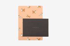 DLGAC12 Hojas de papel estampado para carta shiba Dailylike
