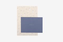 DLGAC14 Hojas de papel estampado para carta paperwhite Dailylike