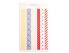 DMS02 Pegatinas tiras papel redribbon flag disenos surtidos Dailylike