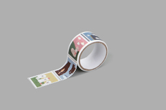 DMT1S117 Cinta adhesiva masking tape washi sellos animal2 Dailylike