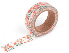 DMT1S12 Cinta adhesiva masking tape washi rose garden Dailylike